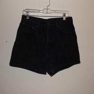 Jordache Black Vintage High Waist Shorts
